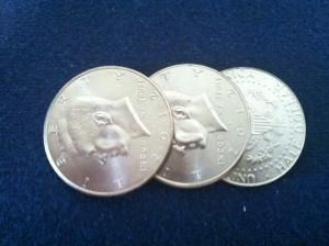 TRICEPTION COIN SET HALF DOLLAR BY BOB SWADLING & MARK MASON